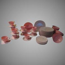 Raymond Loewy Poodle Pink Melamine Dishes