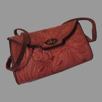 Tooled Leather Handbag/purse - b261