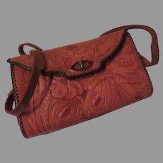 Tooled Leather Handbag/purse - b261