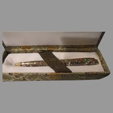 Cloisonne Pen In Box - b262
