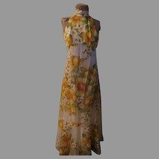 Garden of Flowers Halter Dress