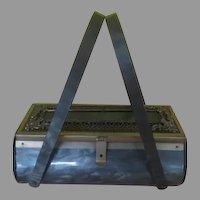 Gray Marble Barrel Lucite Handbag/purse - bru
