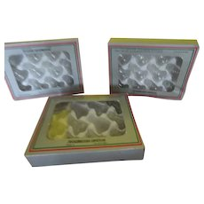 Tiny Glass Bells Christmas Ornaments in Boxes - b278