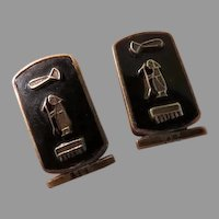 Figure with Staff Silver Cuff Links - Free shipping