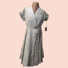 Blue on blue Wrap Front Dress