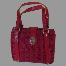 Red Double Strap Purse/Handbag