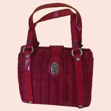 Red Double Strap Purse/Handbag