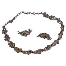 Bling-a-licious Coro Necklace and Clip-on Earrings - Free shipping