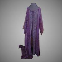 Whimsical Flowing Chiffon Robe