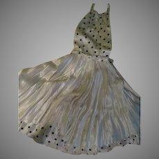 Black on White Polka Dot Halter Dress