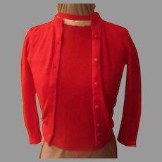 Red Orlon Sweater/shell Set