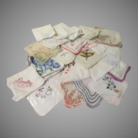 Sizable Stack of Handkerchiefs - b273