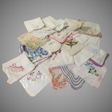 Sizable Stack of Handkerchiefs - b273