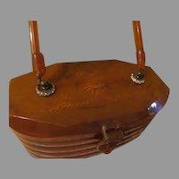 Rhinestone Rings Tortoise Lucite Purse/handbag - drd