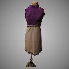 Silvery Braid Purple Bodice Dress
