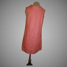 Way to Make an Exit Pink Linen Dress