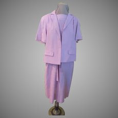 Orchid Linen Dress with Jacket