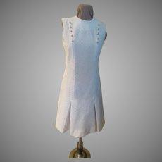 White Kick Pleat Dress
