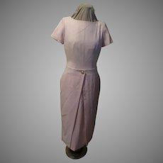 Wrap Overskirt Pink Dress