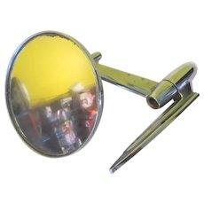 Space Age Rocket Yankee Metal Prod. 60's Sideview Mirror - b282