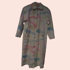 Australian Outback Canvas Splatter Pain Duster/coat