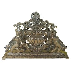 Cherubs to the Left and Right Brass Letter Holder - b282