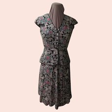 Flower Power Peplum Suit/set