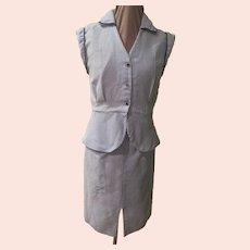 Crisp Blue and White Stripe Seersucker Suit/set