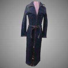 Frayed Hem and Cuffs Denim Dress