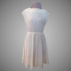 Stripes on the Bias Shirtwaist Dress