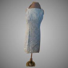 Woven White on Blue Skimmer/dress