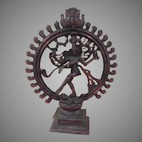 Large Dancing Lord Shiva The Destroyer Natagaja  Statue