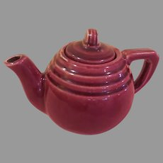 Tea for Me Burgundy Teapot - b269