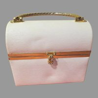 Borsa Bella White Lunchbox Purse/Handbag - b264