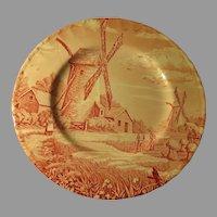 Royal Tudor Pink Windmill Plate - b264