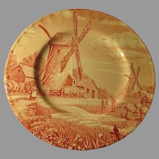 Royal Tudor Pink Windmill Plate - b264