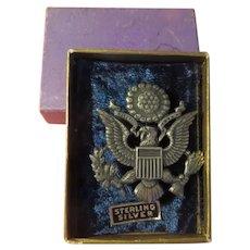 E Pluribus Unum Silver Eagle Pin - free shipping