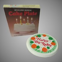 Musical ''Happy Birthday'' Musical Revolving Cake Plate - b282