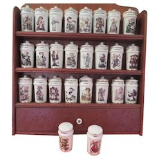 From A to T Hummel 24 jar Spice Rack with Salt and Pepper Shakers - b265