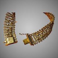 Italian Bead Link Silver Bracelet - Free shipping