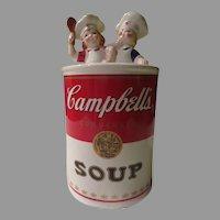Benjamin &  Medwin Campbell Soup Kids Cookie Jar