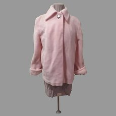 Plush Poodle Pink One Button Jacket