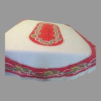 Santa Sleigh Christmas Tablecloth - b282