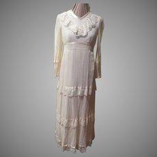 Ribbon and Lace Maxi Dress
