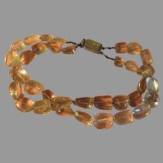 Double Strand Tumbled Quartz Necklace - Free shipping