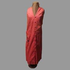 Appliqued Exotic Fruit Button Front Dress