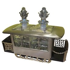 Musical Cable Car with Twin dEcanters - b281