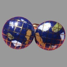 World at Your Fingertips Cuff Links - 02 - Free shipping