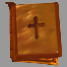 Mother of Pearl Book with Cross Locket - 02 - Free shipping