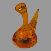 Hand Painted Glass Water Pipe = b283